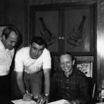 Jerry Shook, Sonny Throckmorton and Pete, signing Window contract